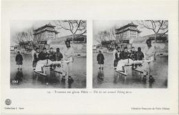 ASIE - CHINA - CHINE - TRAINEAU Sur GLACE - PEKIN ( Librairie Française De Pekin ) - Chine
