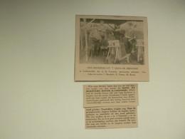 """Origineel Knipsel ( D 733 ) Uit Tijdschrift """" Ons Volk """" 1924 :  De Meestere / Devos  Lichtervelde  Fransche Steenovens - Unclassified"""