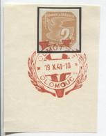 Böhmen Und Mähren 19.10.41 Sonderstempel 70 Briefstück, Olmütz Viktoria - Briefe U. Dokumente