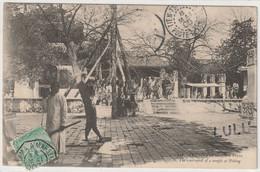 CHINE : Précurseur : La Cour D'un Temple A Pékin ; Cliché R.Tillot N°116 - Chine