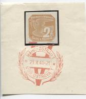 Böhmen Und Mähren 23.10.41 Sonderstempel 71 Briefstück, Mährisch-Ostrau Viktoria - Briefe U. Dokumente
