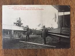 AUTUN-AVIATION - L'aviateur Weiss Vérifie Son Mobnopla Koechlin - Meetings
