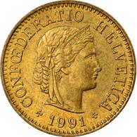 Monnaie, Suisse, 5 Rappen, 1991, Bern, TTB, Aluminum-Bronze, KM:26c - Switzerland