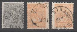 Norwegen  , Nr 11 + 2x Nr12 Gestempelt - Used Stamps