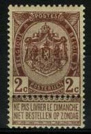 België 55 ** - Rijkswapen - 5c Bruin - Armoiries Du Royaume - 1893-1900 Thin Beard