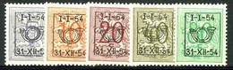 België PRE640/PRE644 * - 1954 - Cijfer Op Heraldieke Leeuw - Chiffre Sur Lion Héraldique - Preo Reeks 46 - 5w. - Sobreimpresos 1951-80 (Chifras Sobre El Leon)