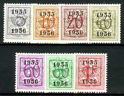 België PRE652/PRE658 ** - 1955 - Cijfer Op Heraldieke Leeuw - Chiffre Sur Lion Héraldique - Preo Reeks 48 - 7w. - Typo Precancels 1951-80 (Figure On Lion)