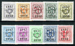 België PRE666/PRE675 ** - 1957 - Cijfer Op Heraldieke Leeuw - Chiffre Sur Lion Héraldique - Preo Reeks 50 - 10w. - Typo Precancels 1951-80 (Figure On Lion)