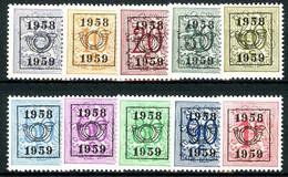 België PRE676/PRE685 ** - 1958 - Cijfer Op Heraldieke Leeuw - Chiffre Sur Lion Héraldique - Preo Reeks 51 - 10w. - Typo Precancels 1951-80 (Figure On Lion)