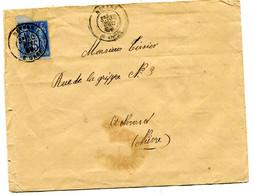 NIEVRE Dateur T 17 NEVERS B GARE Sur Env. De 1880 Pothion N°880 - Spoorwegpost