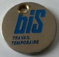Jeton De Caddie - BIS - Travail Temporaire - En Métal - - Trolley Token/Shopping Trolley Chip
