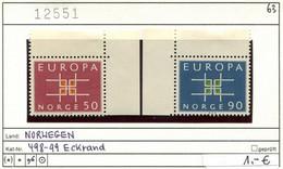 Norwegen - Norway - Norvege - Norge - Michel 498-499 - ** Mnh Neuf Postfris - CEPT - Unused Stamps