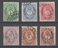Norwegen  , Nr 16 - 21 Gestempelt - Used Stamps