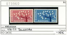 Norwegen - Norway - Norvege - Norge - Michel 476-477 - ** Mnh Neuf Postfris - Unused Stamps