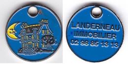 Publicité Jetons De Caddies Landerneau Immobilier - Trolley Token/Shopping Trolley Chip