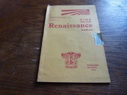 Programme Cinéma La Renaissance Namur Tarzan Johny Weissmuller 1934 ? 1935 ? 8 Pages A5 - Programmes