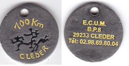 Publicité Jetons De Caddies 100Km De Cléder E.C.U.M - Trolley Token/Shopping Trolley Chip
