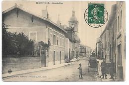 55 - LEROUVILLE - Grande Rue  (Animée) - Lerouville