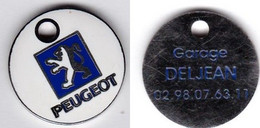 Publicité Jetons De Caddies Peugeot Garage Deljean Guilers - Trolley Token/Shopping Trolley Chip