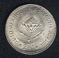 Südafrika, 2 1/2 Cents 1961, Silber, UNC - South Africa