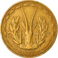 Monnaie, West African States, 5 Francs, 1977, TB+, Aluminum-Nickel-Bronze, KM:2a - Elfenbeinküste