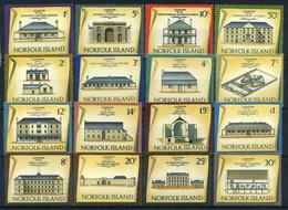 Norfolk 1973-1975 Historic Buildings Stamps 12v MNH - Norfolk Island