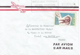 Flamme République Voltaïque Safari Tourisme & Folklore Sur Lettre De 1961 Vers Nantes (Timbre YT 83, Masque D'animaux) - Upper Volta (1958-1984)