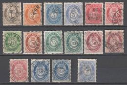 Norwegen  , 1877 - 78 , 13 Gestempelte Marken - Used Stamps