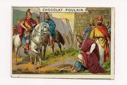 CHROMO   GAUFFRE CHOCOLAT POULAIN Decebale Roi Des Daces ... HISTOIRE ROMAINE 6ème Série - - Poulain