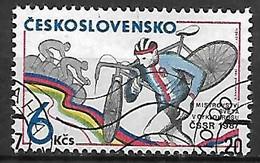 TCHECOSLOVAQUIE   -  1987.   Y&T N° 2707 Oblitéré .  Cyclo-cross  /  Cyclisme. - Usados