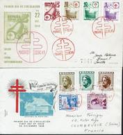 Espagne - 1948-49 - Deux Enveloppes FDC Différentes - B/TB - - FDC