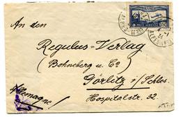 ALPES MARITIMES Dateur A 4 GARE DE NICE Sur Env. De 1934 Avec P.A. N°6 Pour ALLEMAGNE Pothion N°894 - Bahnpost