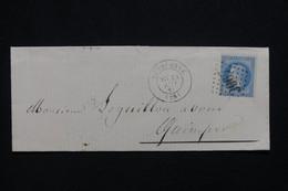 FRANCE - Lettre De Quimperlé Pour Quimper En 1869, Affranchissement Napoléon 20ct, GC 3067 - L 97975 - 1849-1876: Klassik