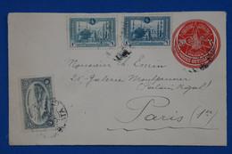 C TURQUIE EMPIRE OTTOMAN BELLE LETTRE RARE 1922 ISTAMBUL A PARIS  1ER FRANCE+ AFFRANCHISSEMENT INTERESSANT - Briefe U. Dokumente