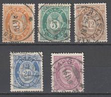 Norwegen  , 1882 , 5  Gestempelte Marken - Used Stamps