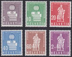 SUISSE, 1958,  Courrier Du Bureau International D'éducation (Yvert 399 Au 404) - Dienstpost