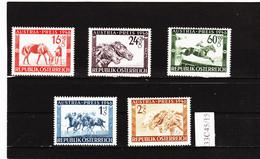 33C45/15 ÖSTERREICH 1946 Michl 785/89 ** Postfrisch SIEHE ABBILDUNG - 1945-60 Ungebraucht