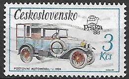 TCHECOSLOVAQUIE   -  1987.   Y&T N° 2722 Oblitéré.  Camionnette De 1924 - Usados