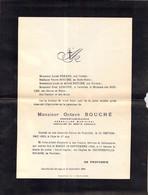 Faire-part Décès Mr Octave BOUCHE Propriétaire éleveur... à La Ferme De Tourville TEURTHEVILLE Bocage En Septembre 1924 - Décès