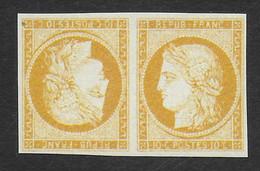 FRANCE 1849/1850 YT 1**- TETE-BECHE - COPIE/FAUX - 1849-1850 Ceres