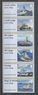 Jersey 2018 HMS Navy's Ships ATM Stamps 6v MNH - Unused Stamps