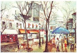 75 Paris Montmartre Place Du Tertre (Carte Vierge) - Plazas