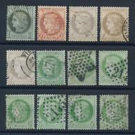 """EA-194: FRANCE : Lot Avec """"CERES"""" Obl  N°50-51-52(3)-53(7) - 1871-1875 Ceres"""