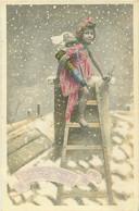 Serie N° 981  -  Joyeux Noel  - Fillette Nue Ange  Sur Une Echelle    F 311 - Altri