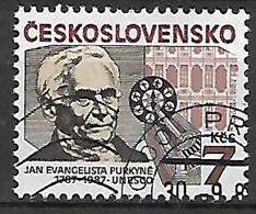 TCHECOSLOVAQUIE   -  1987.   Y&T N° 2738 Oblitéré.  Jan Evangelista Purkyne - Usados