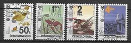 TCHECOSLOVAQUIE   -  1987.   Y&T N° 2732 à 2735 Oblitérés.  Illustrations Livres Pour Enfants.  Série Complète. - Usados