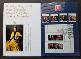 Denmark Silver Jubilee Queen Margrethe II 1997 Royal (folder Set) MNH *see Scan - Nuevos