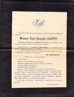 Faire-part Décès Mr Victor Alexandre CHAPPEY Décédé à Le HAM En Novembre 1924 - Décès