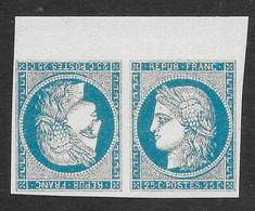 FRANCE 1849/1850 YT 4**- TETE-BECHE - COPIE/FAUX - 1849-1850 Ceres