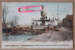 BRUXELLES Maritime : Fonçage Des Caissons Des Piles Du Pont Basculant à Manoeuvre Hydro-électrique En 1903 - Bruxelles-ville